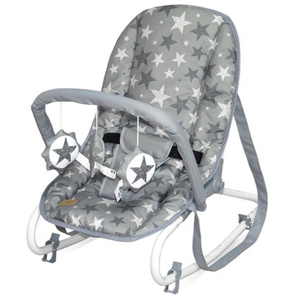 Ležaljka Top Relax Grey Stars 10110022015 - ODDO igračke