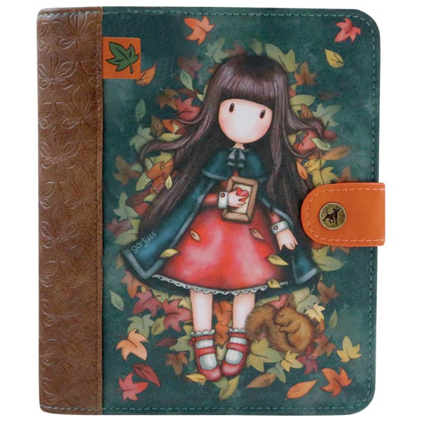 Dnevnik sa kopčom 15,7x18,8cm Autumn Leaves Gorjuss 1036GJ01 - ODDO igračke