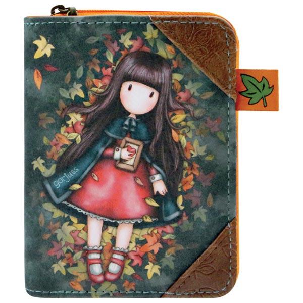 Novčanik veštačka koža zip+dugme Autumn Leaves Gorjuss 903GJ03 - ODDO igračke