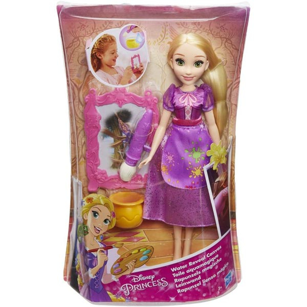 Disney Princess Water Reveal Canvas Rapunzels Doll B9148 502912 - ODDO igračke
