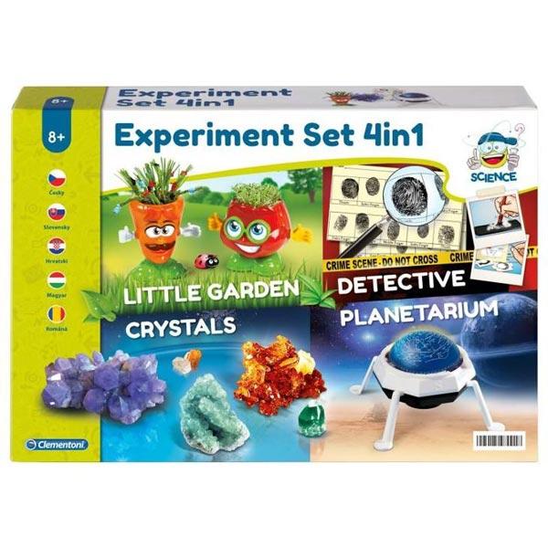 Clementoni Eksperiment 4 u 1,Bašta,Detektiv,Kristali i Planetarijum 971381 - ODDO igračke