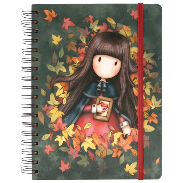 Notes sa spiralom i gumicom Autumn Leaves Gorjuss 767GJ03 - ODDO igračke