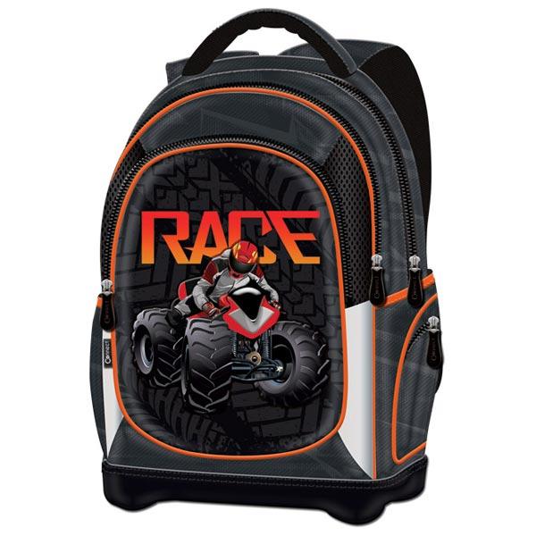 Ranac đački anatomski lagani ATV Race 20.Connect 41970 crno-narandžasti - ODDO igračke