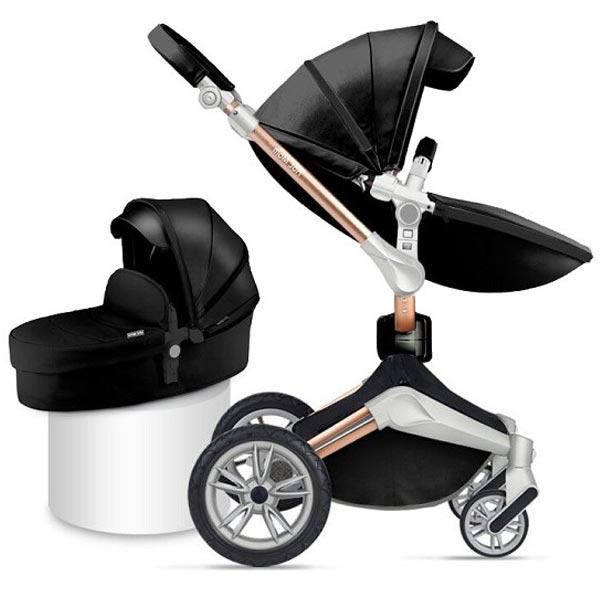 Kolica Hot Mom Black 2U1 (sportsko sediste+korpa) F023BLACK - ODDO igračke