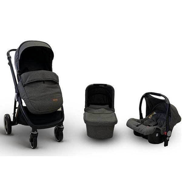 Kolica Baby Bear Origin - Urban Life 3U1 - Dark Grey T900DGREY - ODDO igračke