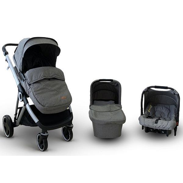 Kolica Baby Bear Origin - Urban Life 3U1 Light Grey T900LGREY - ODDO igračke