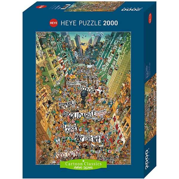 Heye puzzle 2000 pcs Cartoon Classics Degano Protest 29820 - ODDO igračke