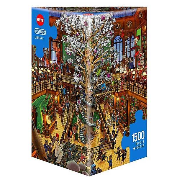Heye puzzle 1500 pcs Library 29840 - ODDO igračke