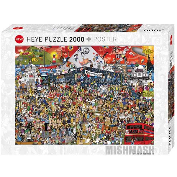 Heye puzzle 2000 pcs Mishmash Alex Bennett British Music 29848 - ODDO igračke