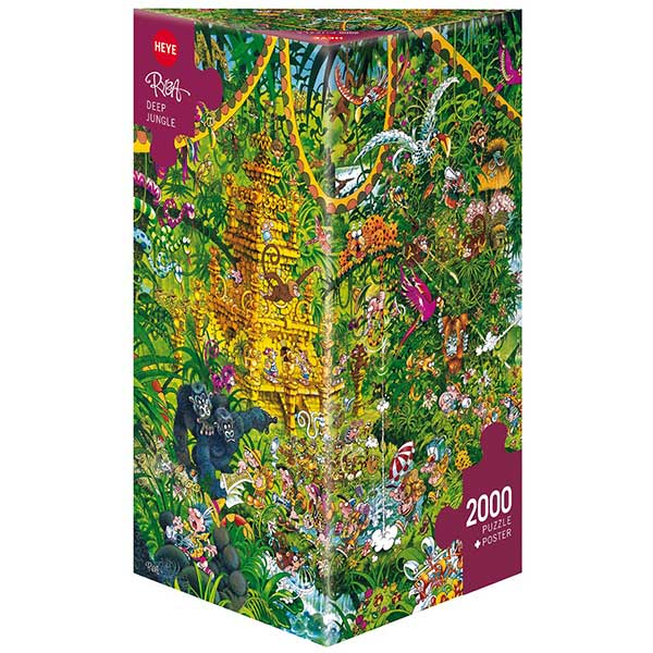 Heye puzzle 2000 pcs Triangle Deep Jungle 29892 - ODDO igračke