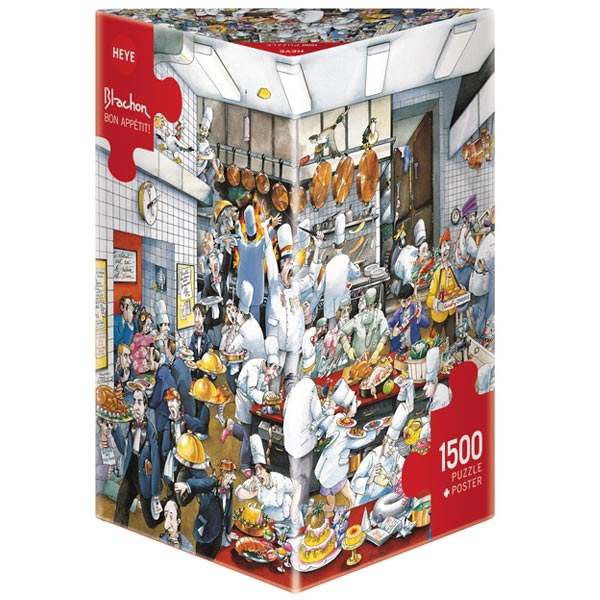 Heye puzzle 1500 pcs Triangle  Roger Blachon Bon Appetit 29130 - ODDO igračke
