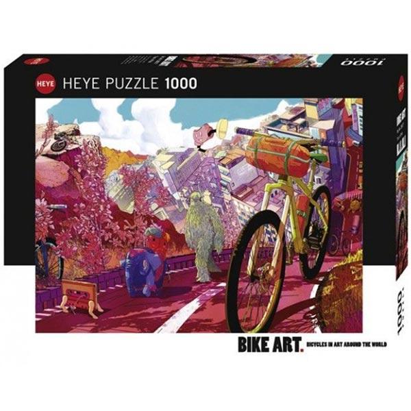 Heye puzzle 1000 pcs Bike Art The Ride Journal : Tour in Pink 29677 - ODDO igračke