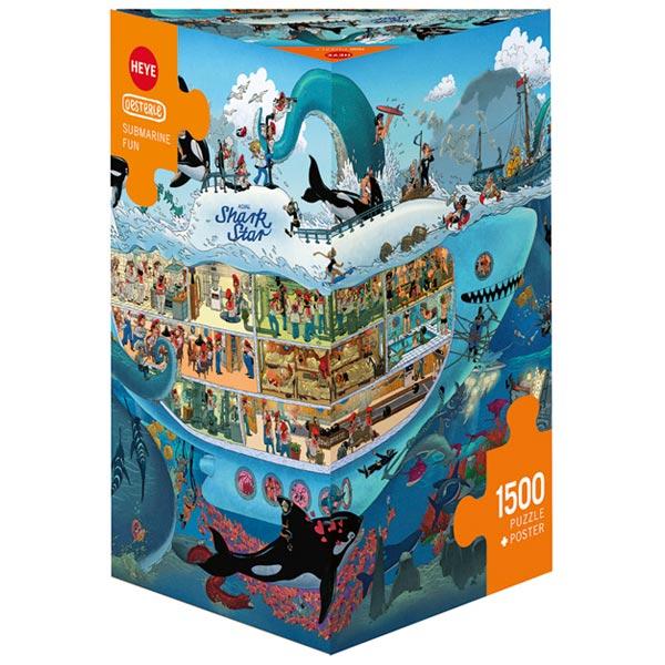 Heye puzzle 1500 pcs Triangle Uli Oesterle Submarine Fun 29925 - ODDO igračke