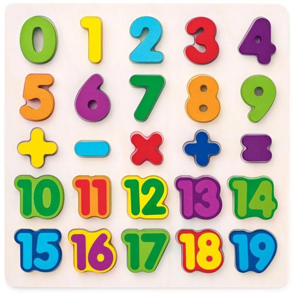 Woody Puzzle - brojevi + operacije 90069 - ODDO igračke
