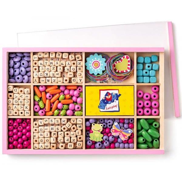 Woody Kretaivni set sa različitim perlicama 90211 - ODDO igračke
