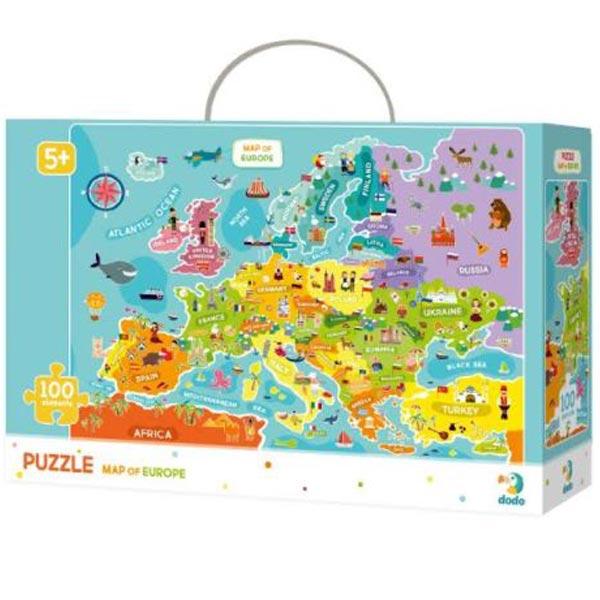 Dodo puzzle Mapa Evrope - 100 delova COR124 - ODDO igračke