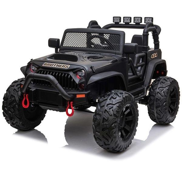 Džip na akumulator crni 12V7Ax1+2 JC666 11/7666-1  - ODDO igračke