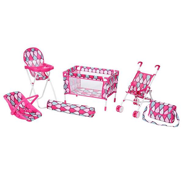Set hranilica, kolica i nosiljka za lutke 15320 - ODDO igračke