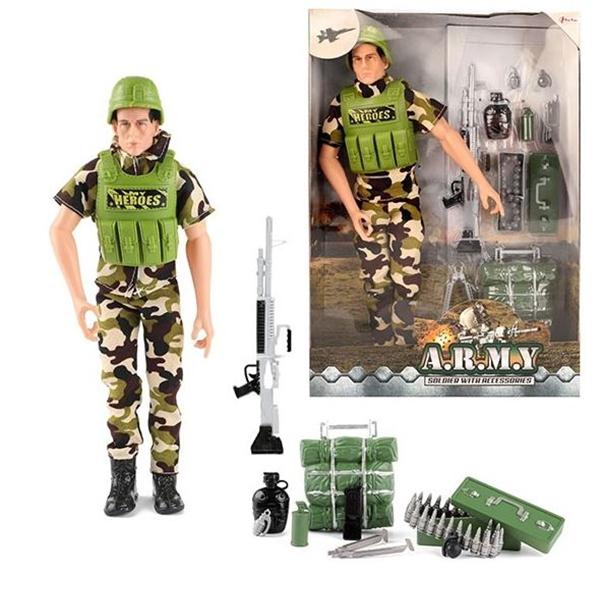 Army Set vojnik i oprema 15452A - ODDO igračke