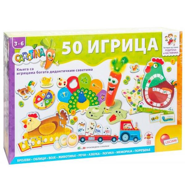 Carotina SR Edukativna igra 50 Edu Igara Lisciani RS76710 - ODDO igračke