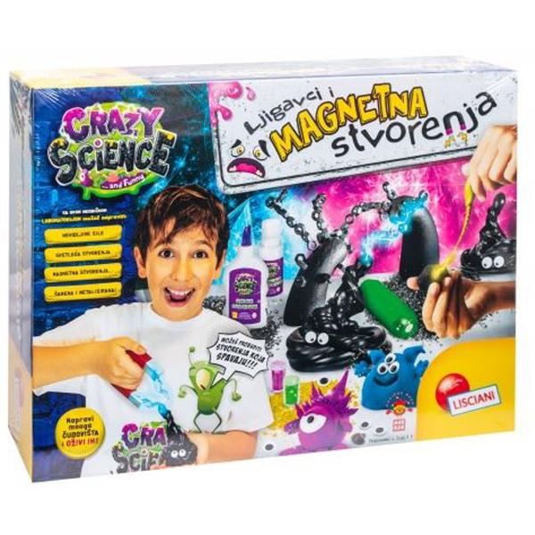Crazy Science SR Laboratorija ljigavaca i magnetnih stvorenja Lisciani 73061 - ODDO igračke