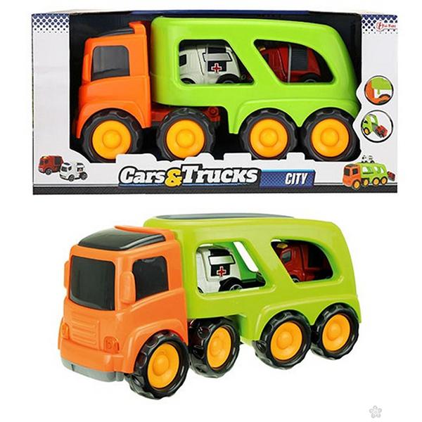Kamion CARS&TRUCKS sa vozilima za hitnu intervenciju 72742A - ODDO igračke