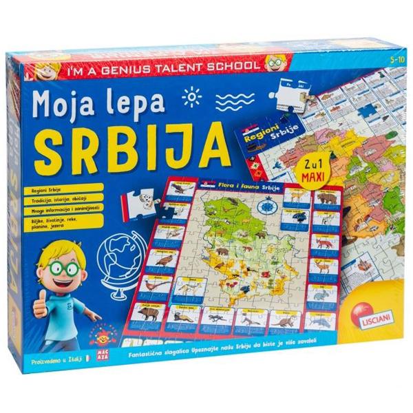 Mali Genije SR Edukativna slagalica Moja lepa Srbija Lisciani RS80571 - ODDO igračke