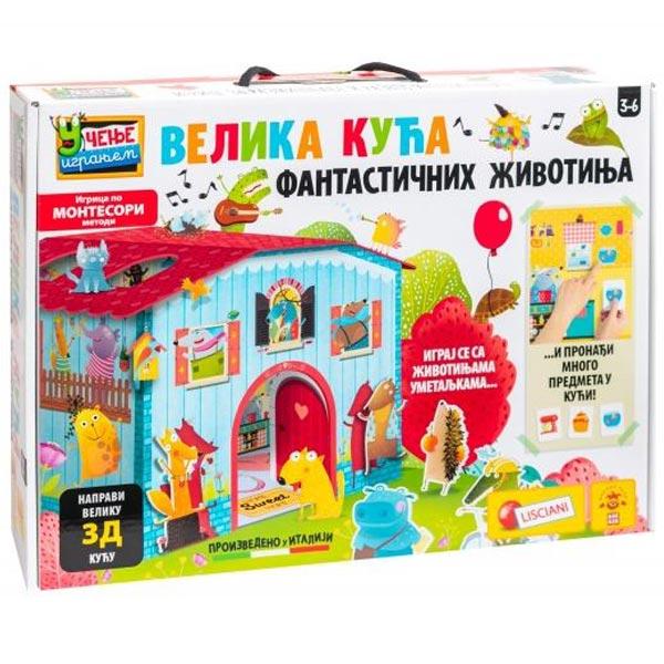 Montesori SR Edukativna igra Velika kuca fantasticnih zivotinja Lisciani 76819 - ODDO igračke