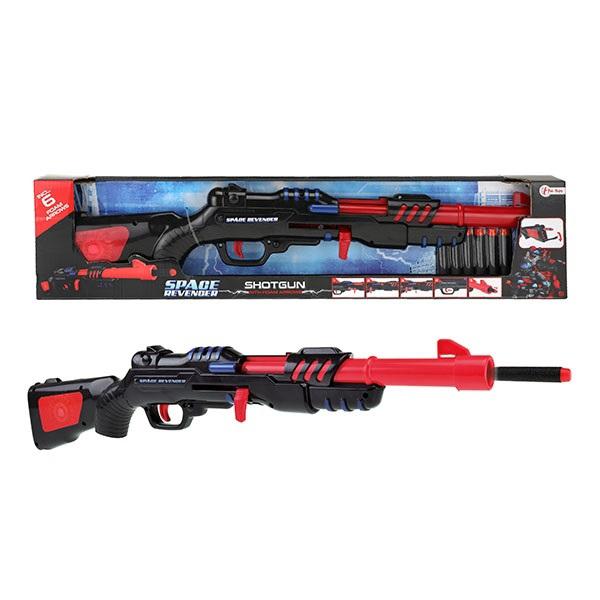 Puška sa 6 sundjerastih metaka crvena 32587A - ODDO igračke