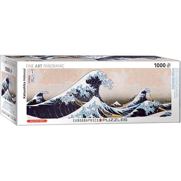 Eurographics Panoramic Fine Art Great Wave of Kanagawa 6010-5487 1000 pieces Puzzle - ODDO igračke