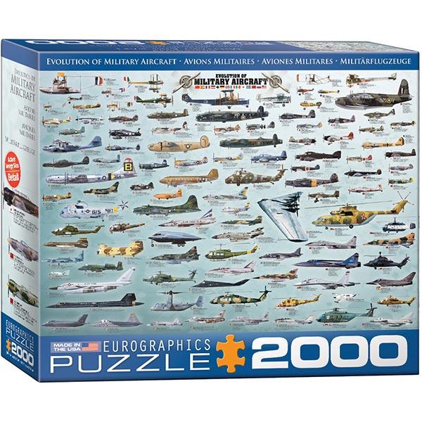 Eurographics puzzle 2000 pcs Evolution of Military Aircraft 8220-0578 - ODDO igračke