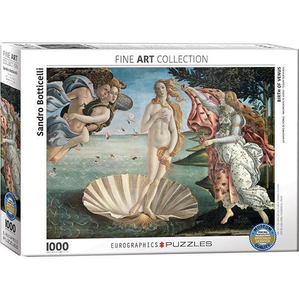 Eurographics Fine Art puzzle The Birth of Venus 1000 pcs 6000-5001 - ODDO igračke