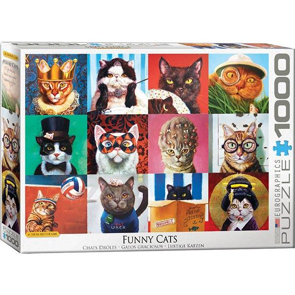 Eurographics puzzle Funny Cats 1000 pcs 6000-5522 - ODDO igračke