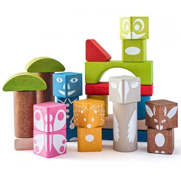 Drvene kocke u boji, 26 komada Woody 90912 - ODDO igračke