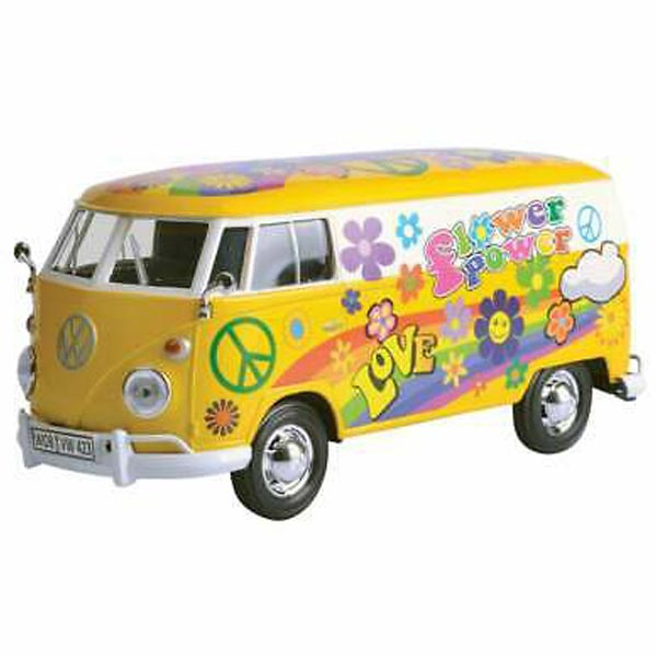 Motor Max Kombi 1:24 Volkswagen VW Type 2 Transporter Flower Power 25/79575 - ODDO igračke
