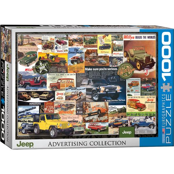 Eurographics puzzle Jeep Advertising Collection 1000 pcs 6000-0758 - ODDO igračke