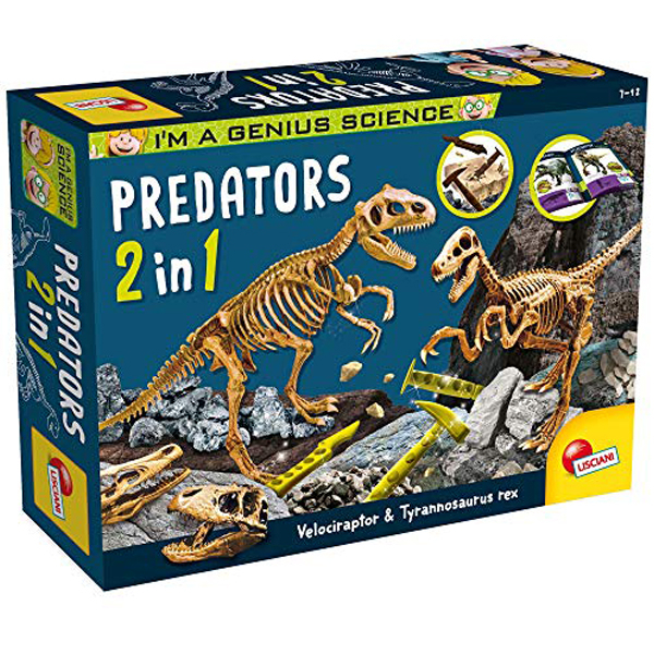 Predatori 2 u 1 Velociraptor i Tyrannosaurus Rex Lisciani 77236 - ODDO igračke