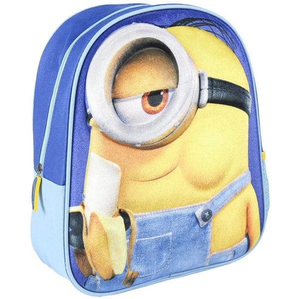 Ranac predškolski 3D Minions Cerda 2100002969 plavi - ODDO igračke