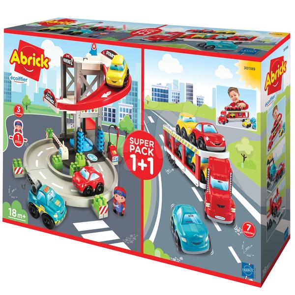 Ecoiffier Maxi 3 U 1 Super set  garaža i šleper sa autićima SM301189                                                       - ODDO igračke