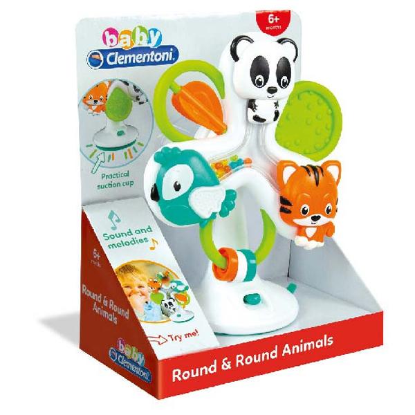 Clementoni Baby Zoo vrteška interaktivna CL17261 - ODDO igračke