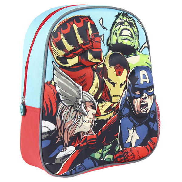 Ranac za vrtić 3D Avengers Cerda 2100003028 plavo-crveni - ODDO igračke
