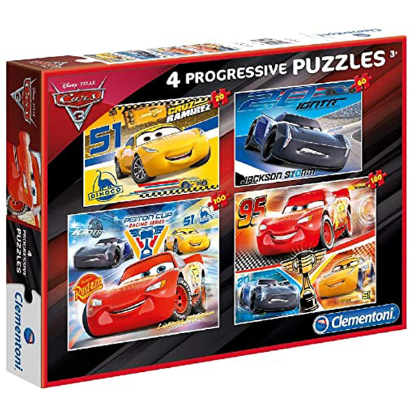 Clementoni puzzle Progressive 4 u 1 Cars 07714 - ODDO igračke