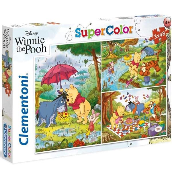 Clementoni puzzla 3x48pcs Winnie the Pooh 25232 - ODDO igračke