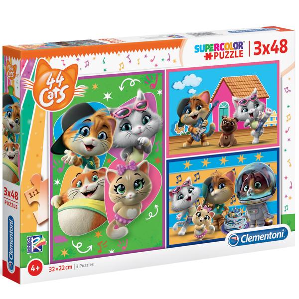 Clementoni puzzla 3x48pcs 44 Cats 25239 - ODDO igračke