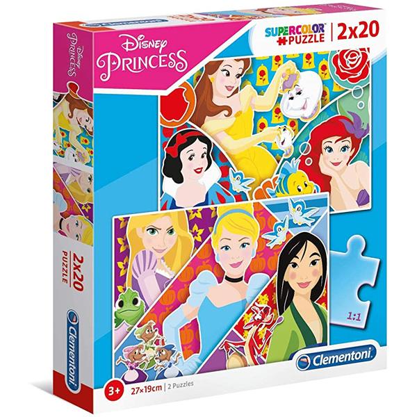 Clementoni puzzla 2x20 Disney Princesses 24766 - ODDO igračke