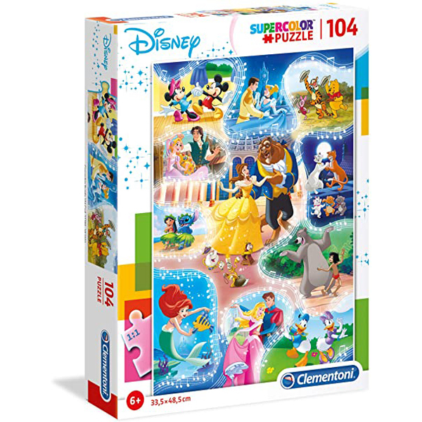 Clementoni puzzla 104pcs Disney Princess Dance Time 27289 - ODDO igračke