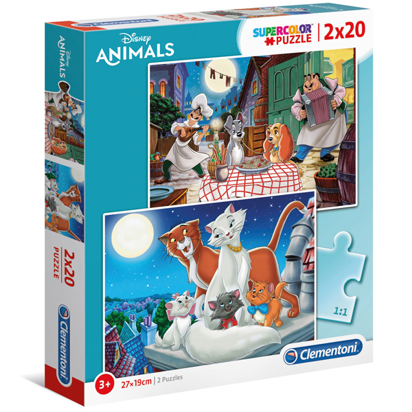 Clementoni puzzla 2x20 Disney Animal Friends 24764 - ODDO igračke