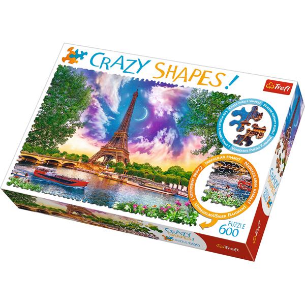Trefl Puzzle 600 pcs Crazy Shapes - Sky over Paris 11115 - ODDO igračke