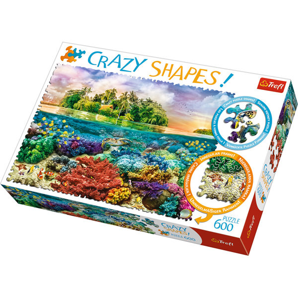 Trefl Puzzle 600 pcs Crazy Shapes - Tropical Island 11113 - ODDO igračke