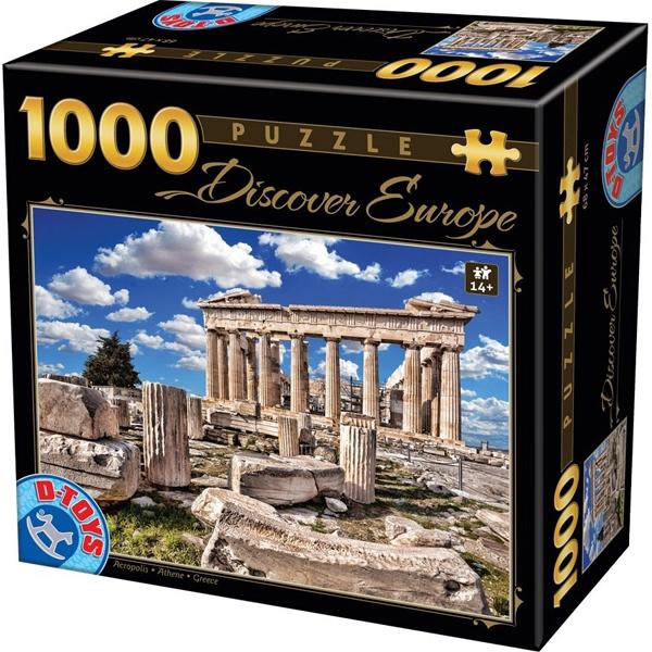 DToys puzzla 1000 pcs Discover Europe Parthenon 07/65995-05 - ODDO igračke